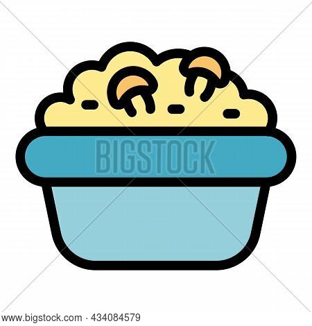 Mashed Potatoes Icon. Outline Mashed Potatoes Vector Icon Color Flat Isolated
