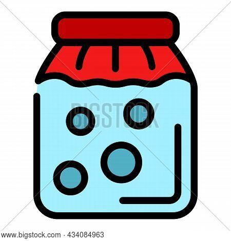Pickled Food Icon. Outline Pickled Food Vector Icon Color Flat Isolated