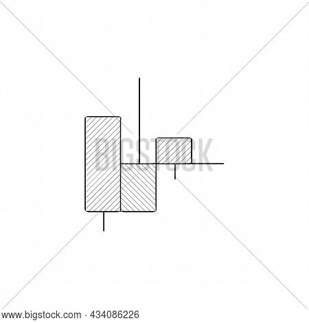 Candle Stick Vector Thin Line Icon. Candle Stick Graph Trading Chart Hand Drawn Thin Line Icon.