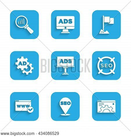 Set Advertising, Seo Optimization, Browser Setting, Website Template, Location Marker And Magnifying