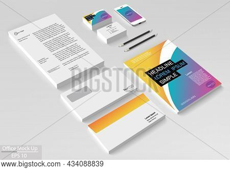 Business Corporate Identity Template Set. Vector Mock Up For Office.