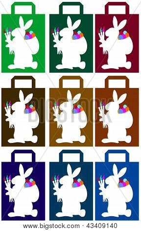 Paperbags with easterbunny