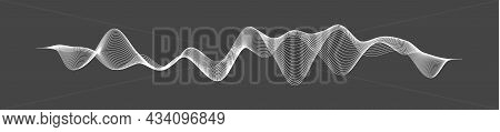 Radio Waves Vector. Radio Frequency Identification. Wireless Communication. Sound Waves Abstract Vec