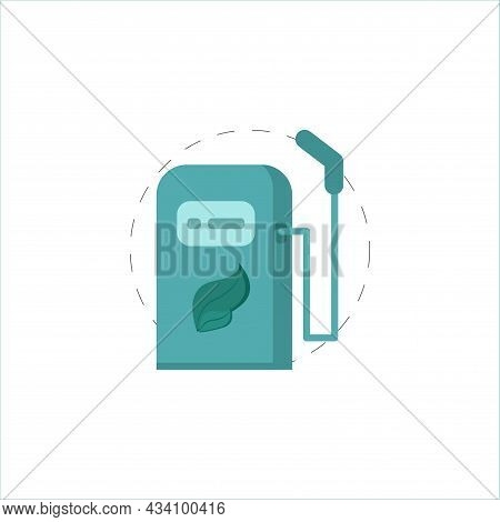 Bio Fuel Vector Colorful Clipart. Bio Fuel Flat Illustration.