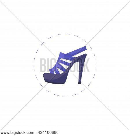 Women Heel Vector Colorful Clipart. Women Heel Flat Illustration.