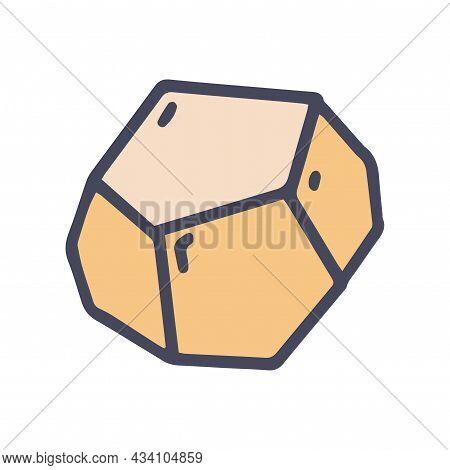 Dodecahedron Color Vector Doodle Simple Icon Vector