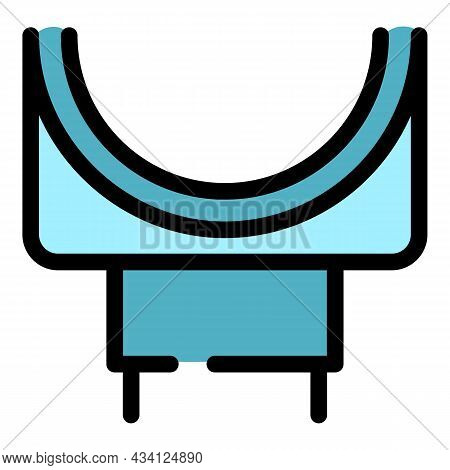 Pipeline Gutter Icon. Outline Pipeline Gutter Vector Icon Color Flat Isolated
