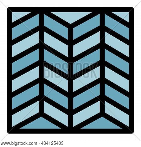 Deck Paving System Icon. Outline Deck Paving System Vector Icon Color Flat Isolated