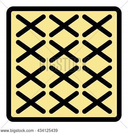Surface Paving Icon. Outline Surface Paving Vector Icon Color Flat Isolated