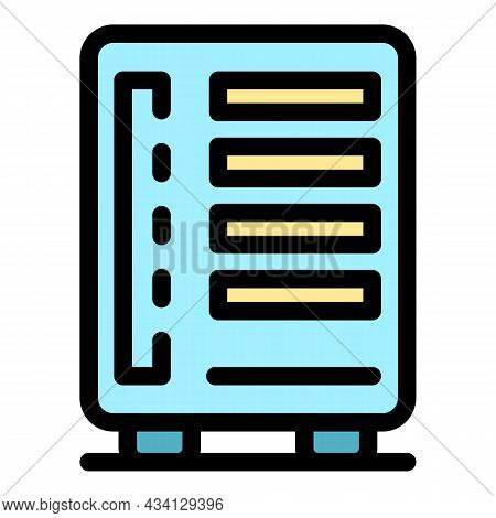 Computer Data Storage Icon. Outline Computer Data Storage Vector Icon Color Flat Isolated