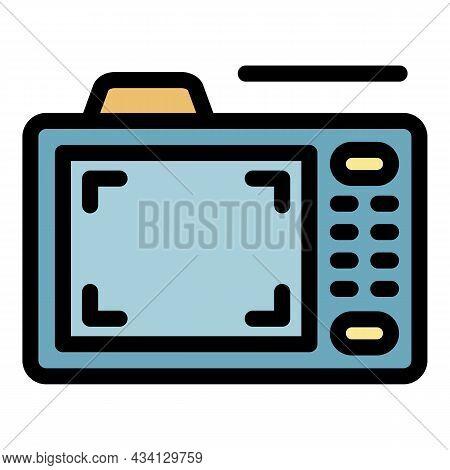 Camera Record Icon. Outline Camera Record Vector Icon Color Flat Isolated