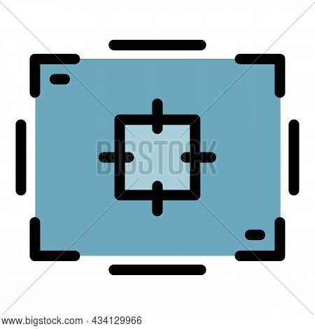 Aim Record Frame Icon. Outline Aim Record Frame Vector Icon Color Flat Isolated