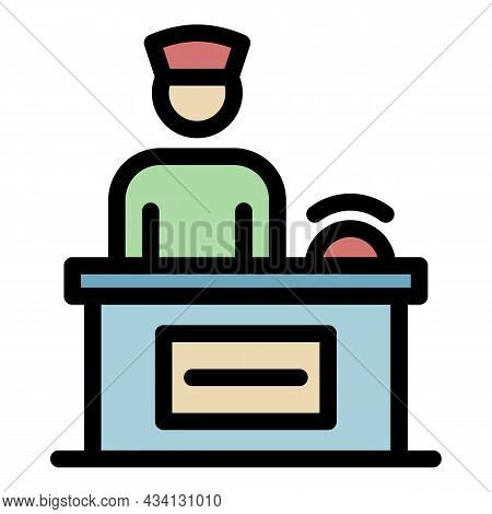 Medical Consultant Icon. Outline Medical Consultant Vector Icon Color Flat Isolated