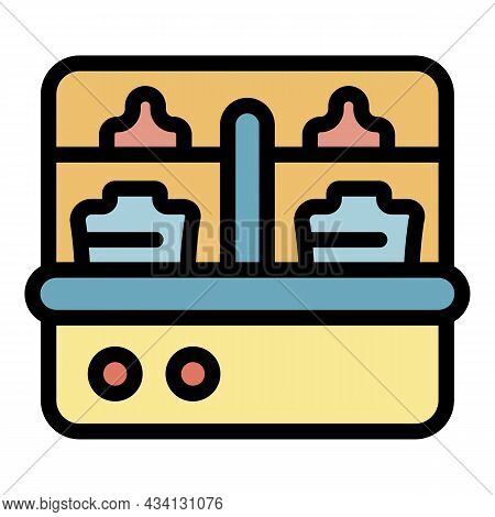 Tool Sterilizer Icon. Outline Tool Sterilizer Vector Icon Color Flat Isolated