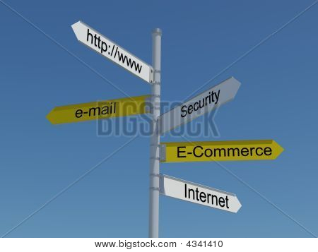 Internet Superhighway Sign Post