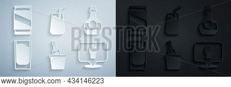 Set Champagne In An Ice Bucket, Bottle Of Cognac Or Brandy, Shot Glass, Alcohol Beer Bar Location, C