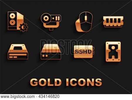 Set Server, Data, Web Hosting, Ram, Random Access Memory, Hard Disk Drive Hdd, Sshd Card, Optical Di