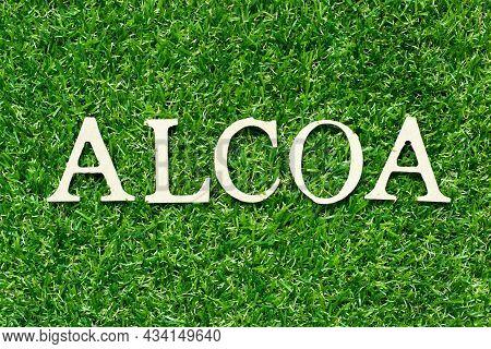 Wood Letter In Word Alcoa (abbreviation Of Attributable, Legible, Contemporaneous, Original And Accu