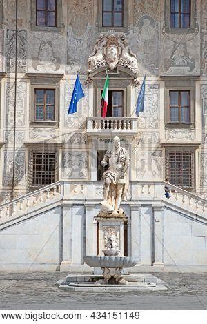 Piazza dei Cavalieri in Pisa, Italy
