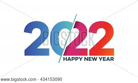 2022. 2022 Text. 2022 Happy New Year. 2022 Design Similar For Greetings, Invitations, Banner Or Back