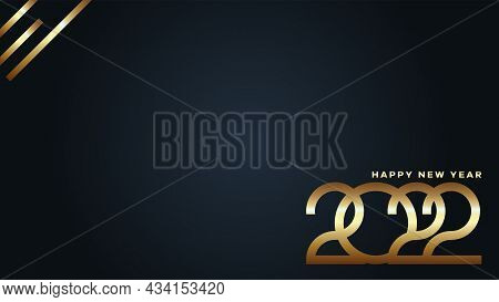2022. Golden 2022 Background. 2022 Happy New Year. 2022 Vector Design Illustration For Greetings, In