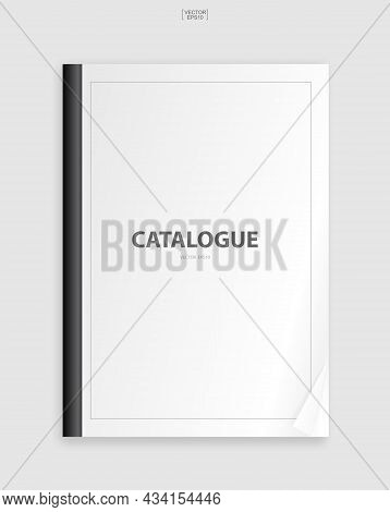 Book Binder With Empty Cover For Background. Template Design (mock Up) For Catalogue, Portfolio, Pag