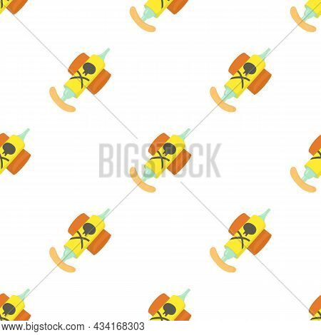 Hand Insecticide Spray Pattern Seamless Background Texture Repeat Wallpaper Geometric Vector