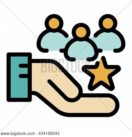 Vip Shop Clients Icon. Outline Vip Shop Clients Vector Icon Color Flat Isolated