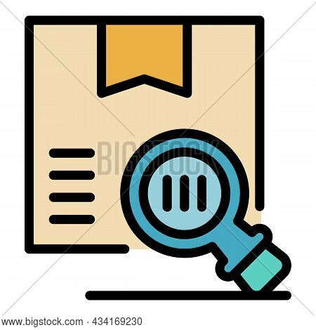 Inspect Box Icon. Outline Inspect Box Vector Icon Color Flat Isolated