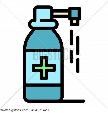 Medicinal Spray Icon. Outline Medicinal Spray Vector Icon Color Flat Isolated