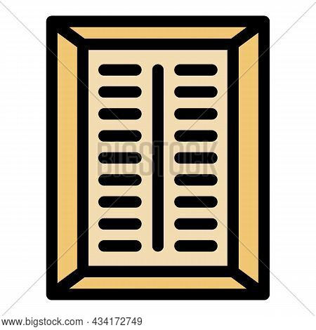 Wall Ventilation Cover Icon. Outline Wall Ventilation Cover Vector Icon Color Flat Isolated