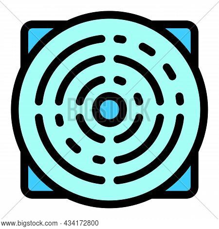 Ventilation Panel Icon. Outline Ventilation Panel Vector Icon Color Flat Isolated
