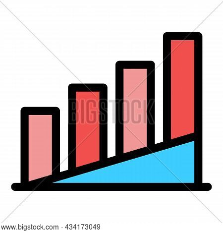 Temperature Diagram Icon. Outline Temperature Diagram Vector Icon Color Flat Isolated