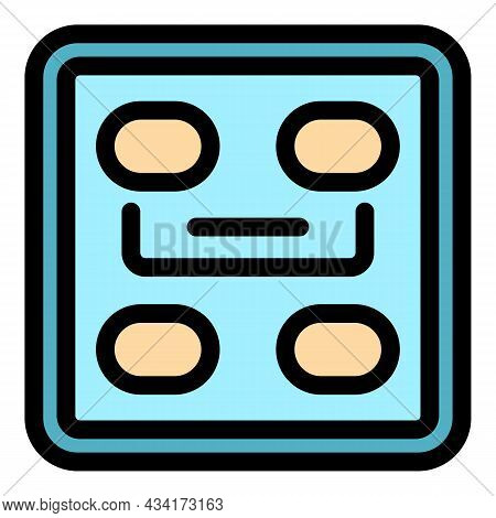 Smart Scales Device Icon. Outline Smart Scales Device Vector Icon Color Flat Isolated