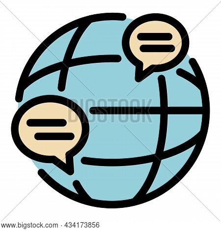 Global Crisis Manager Icon. Outline Global Crisis Manager Vector Icon Color Flat Isolated