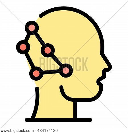 Neuro Restructuring Icon. Outline Neuro Restructuring Vector Icon Color Flat Isolated