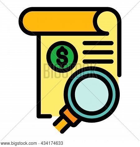 Search Paper Broker Icon. Outline Search Paper Broker Vector Icon Color Flat Isolated