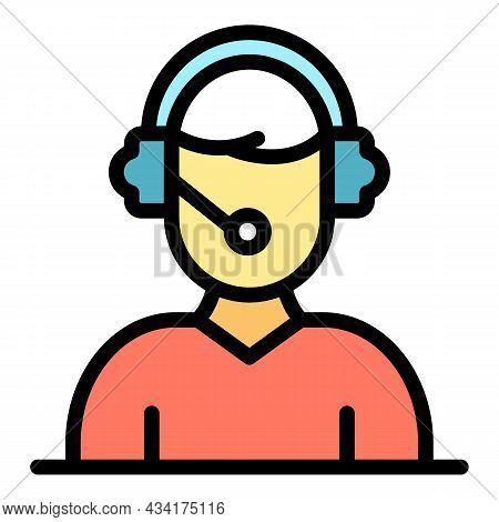 Credit Support Operator Icon. Outline Credit Support Operator Vector Icon Color Flat Isolated