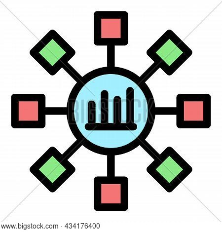 Trader Scheme Flower Icon. Outline Trader Scheme Flower Vector Icon Color Flat Isolated