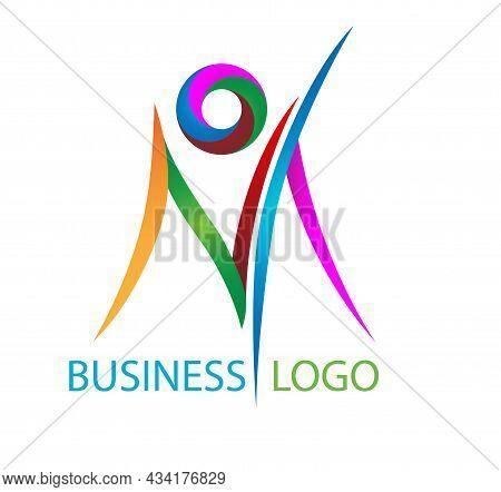 Colorful Letter M Logo Design. Letter M Logo Icon Design Template Elements.