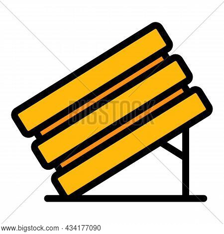 Wood Box Animal Trap Icon. Outline Wood Box Animal Trap Vector Icon Color Flat Isolated