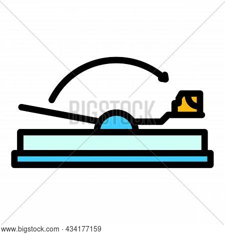 Mouse Animal Trap Icon. Outline Mouse Animal Trap Vector Icon Color Flat Isolated
