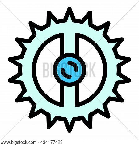 Top View Animal Trap Icon. Outline Top View Animal Trap Vector Icon Color Flat Isolated