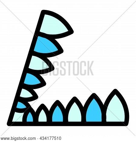 Steel Animal Trap Icon. Outline Steel Animal Trap Vector Icon Color Flat Isolated