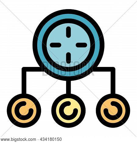 Gym Time Icon. Outline Gym Time Vector Icon Color Flat Isolated