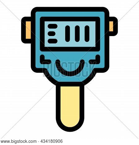 Detection Thermal Imager Icon. Outline Detection Thermal Imager Vector Icon Color Flat Isolated