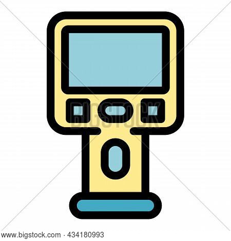 Geodetic Thermal Imager Icon. Outline Geodetic Thermal Imager Vector Icon Color Flat Isolated