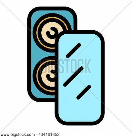 Screen Protector Icon. Outline Screen Protector Vector Icon Color Flat Isolated