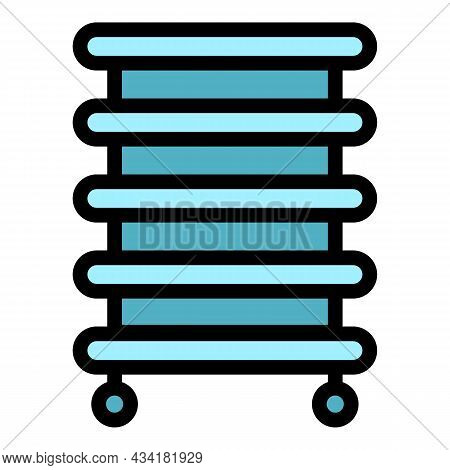 Towel Dry Radiator Icon. Outline Towel Dry Radiator Vector Icon Color Flat Isolated
