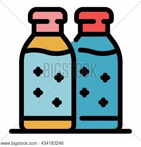 Hygiene Antiseptic Icon. Outline Hygiene Antiseptic Vector Icon Color Flat Isolated